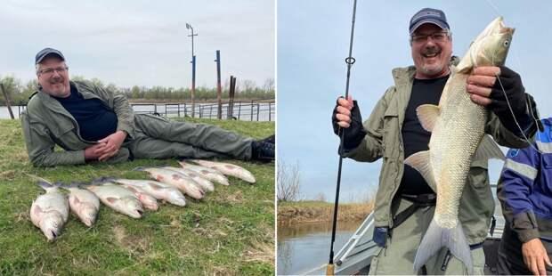 Телеведущий Алексей Лысенков порыбачил в Астрахани