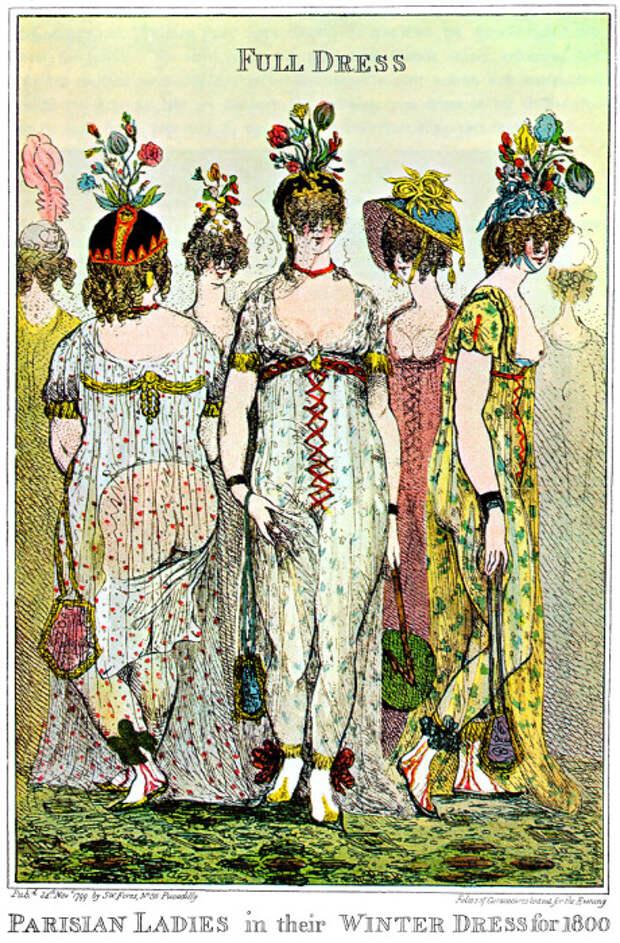Какими были платья, которые оказались слишком откровенными даже для парижских модниц