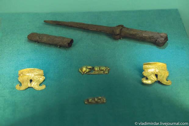 Акинак и золотые накладки. Золото сарматов.