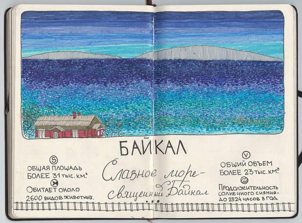 Байкал. путешествие, рисунки