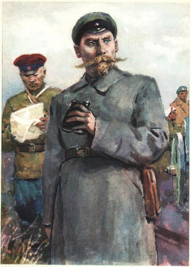 Семен Буденный на открытке ИЗОГИЗ, СССР.jpg