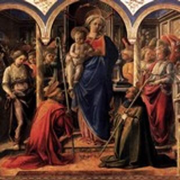 Мадонна с Младенцем в окружении ангелов