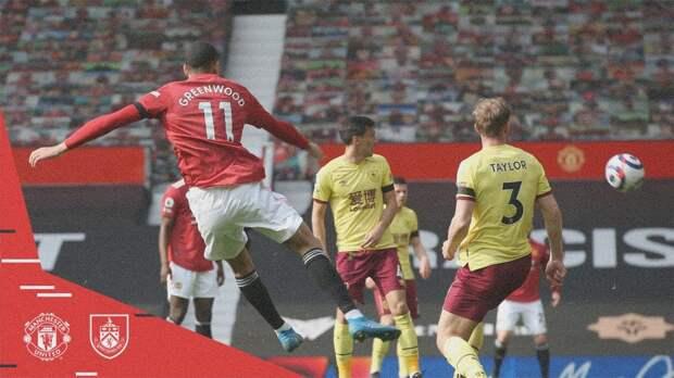 Дубль Гринвуда помог «Манчестер Юнайтед» победить «Бернли»