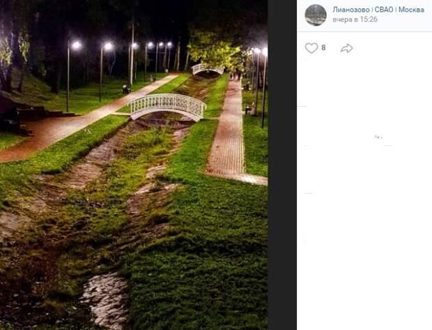 Фото дня: память о ручье в Лианозовском парке