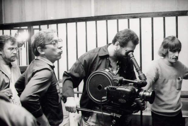 Фотографии со съемок фильма «Бакенбарды». 1990 год.