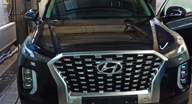 Рестайлинговый Hyundai Palisade впервые показали на скетче без защитного камуфляжа