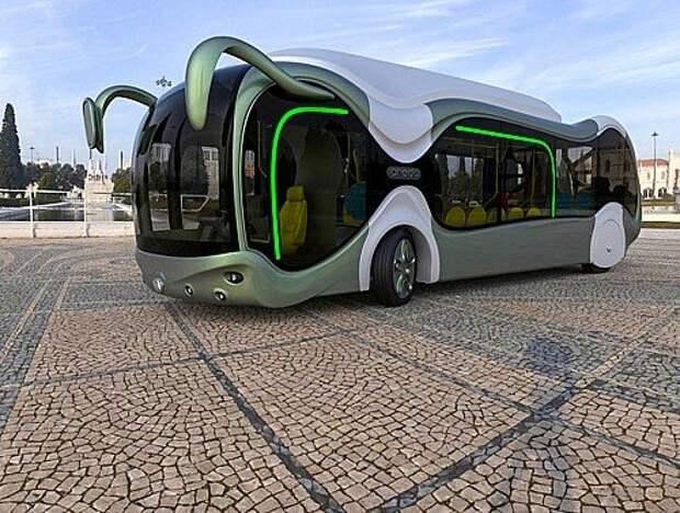 Альтернативный вариант экологически чистого обще- ственного транспорта использует топливные элементы. Прототип автобуса Credo E‑Bone (на фото) представлен еще в 2010 году, но по футуристичности до сих пор не имеет себе равных. А китайская компания CSR Sifang записала на свой счет первый в мире трамвай, работающий на водороде.