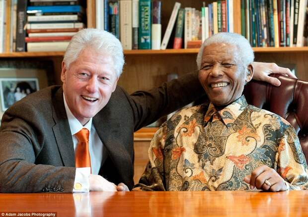 Клинтон и Мандела