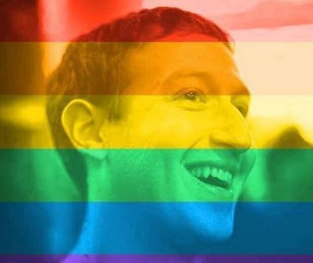 Российские пользователи ответили на инициативу Facebook раскрашивать фотографии цветами ЛГБТ-радуги