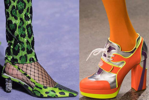 Женская обувь ярких оттенков
