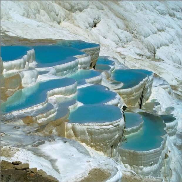 Памуккале, Турция водопад, природа, факты