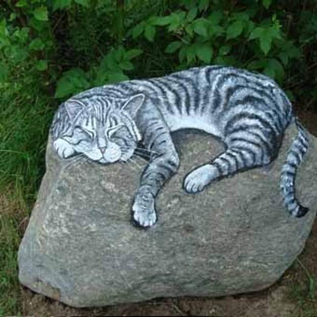 роспись по камню в ландшафтном дизайне