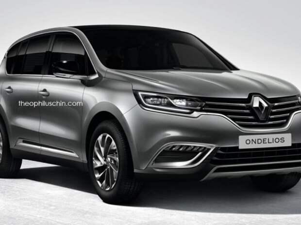 Появились новые рендеры 7-местного кроссовера Renault