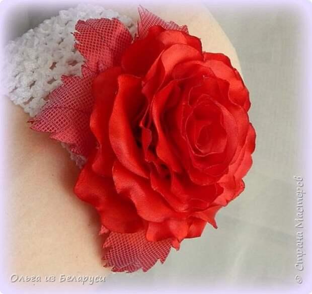 Мастер-класс Флористика искусственная Моделирование конструирование МК листка розы из фатина+роза из фатина Ленты фото 15