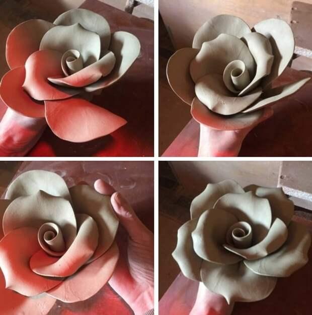 Невероятно красивые розы из глины и вы можете сделать их сами