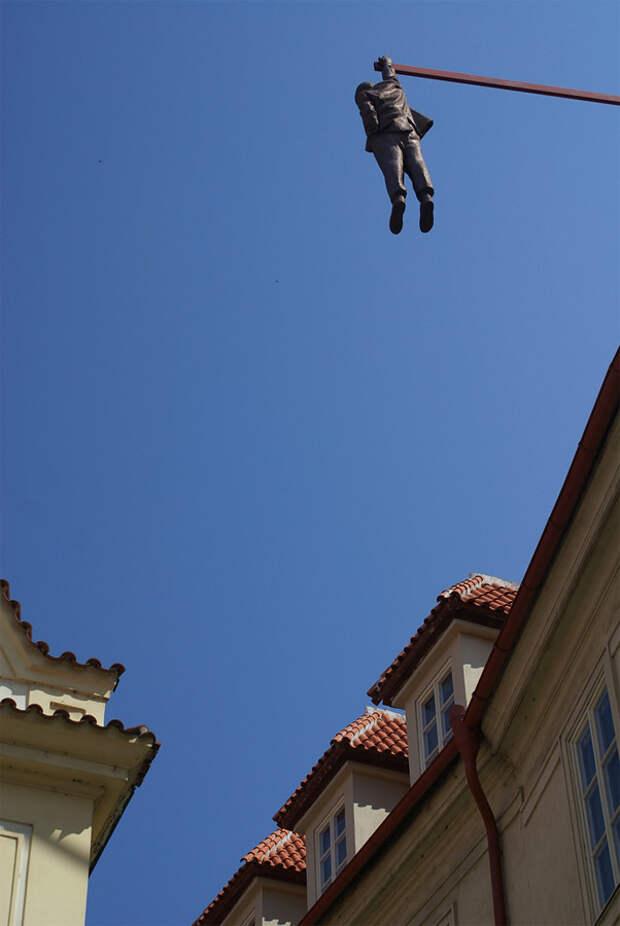 Висящий мужчина, Прага, Чехия, Европа