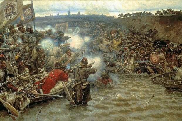 Василий Иванович Суриков, «Покорение Сибири Ермаком Тимофеевичем» (фрагмент)