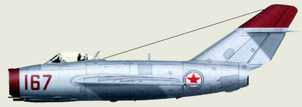 МиГ-15  с опознавательными знаками КНДР