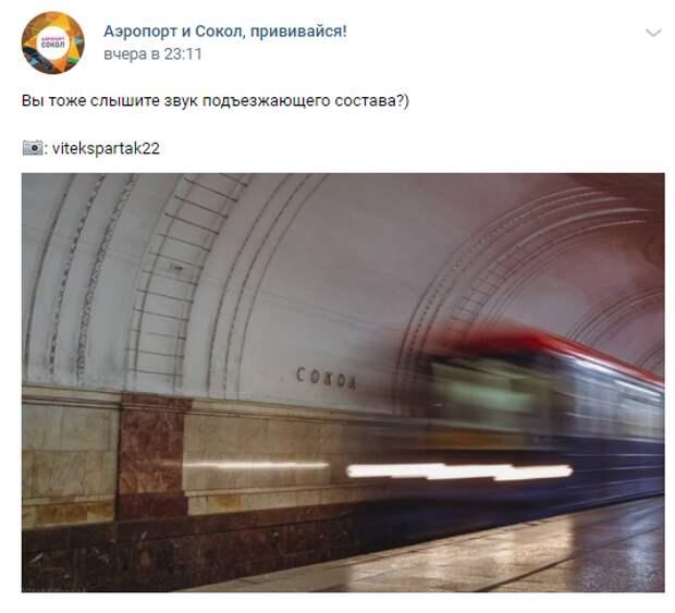 Фото дня: будни на станции метро «Сокол»