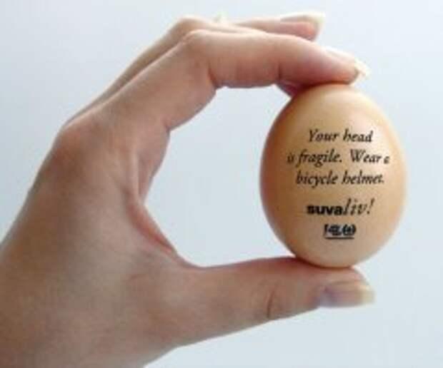Голову без шлема сравнили с яйцом