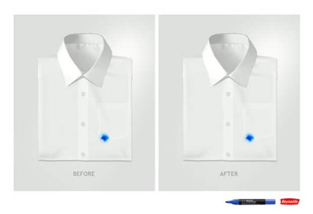 Чернила Reynolds – страшная угроза для белых рубашек