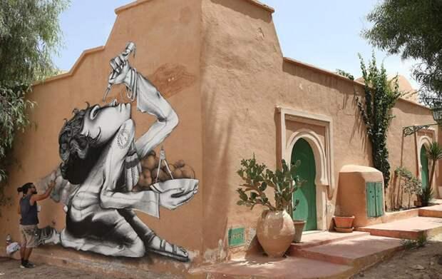 150 уличных художников из 30 стран, превратили старую деревушку Эр-Рияд в Тунисе в настоящую галерею под открытым небом (19)