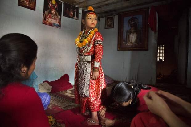 Дети-богини в Непале