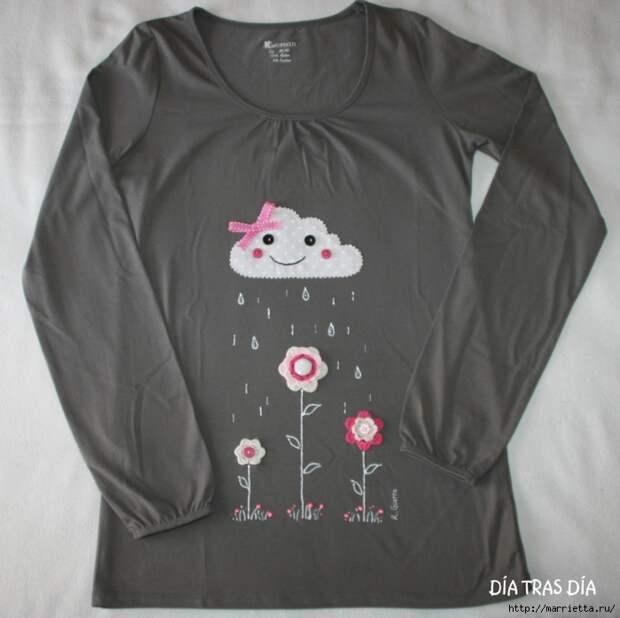 Аппликация с вышивкой на детских футболках (15) (700x697, 232Kb)