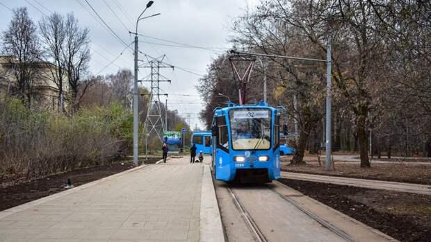 Движение трамваев до станции метро «Войковская» в Москве возобновили раньше срока