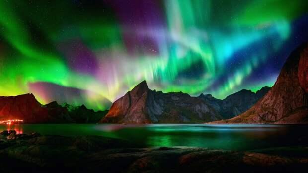 Это волшебное северное сияние. Любуемся!