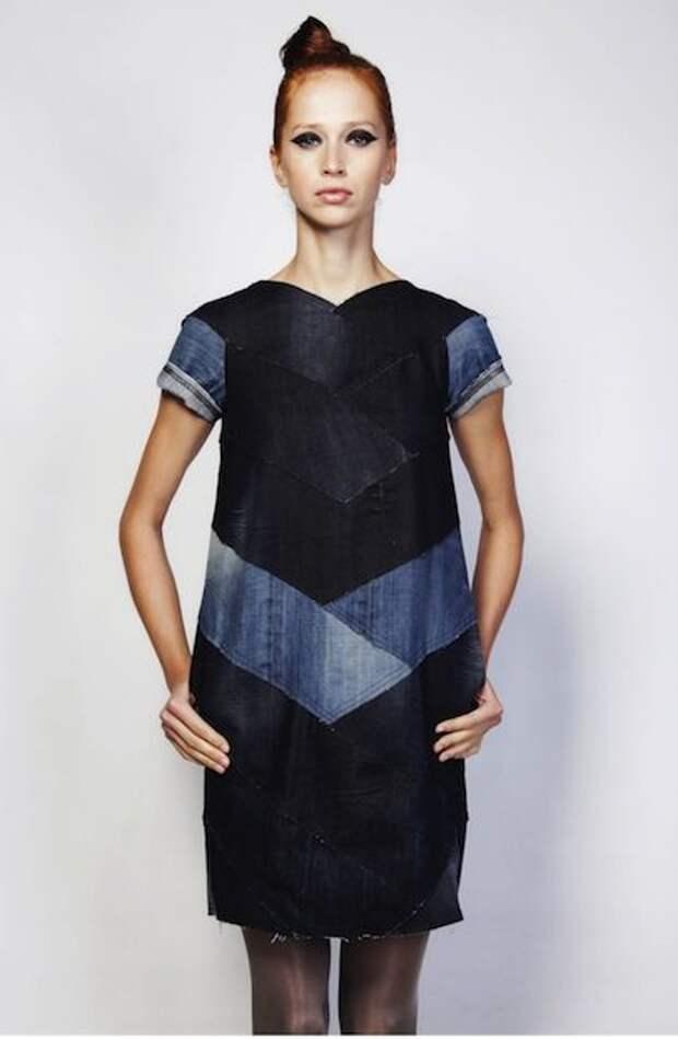 Платье из переработаной джинсы