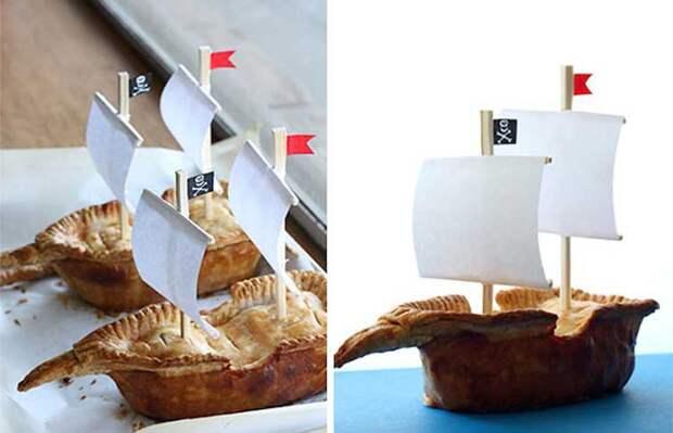 Пиратский пирог выпечка, красивая еда, кулинария, пироги