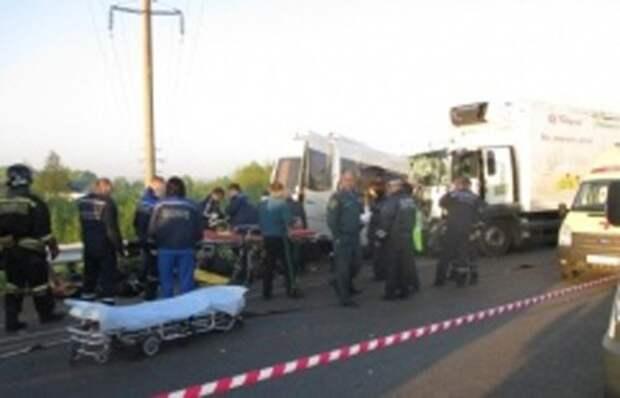 Авария автобуса с детьми