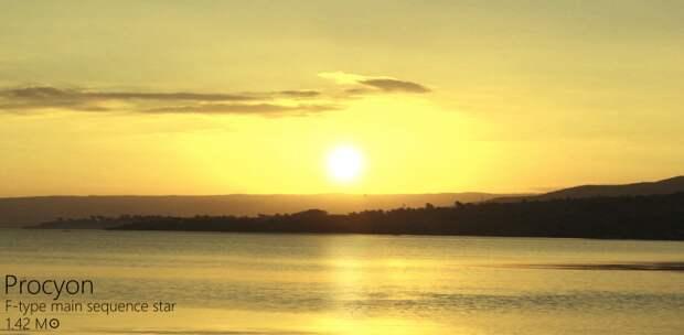 Ну и знакомая всем Альфа Центавра Альдебаран, закат, солнце