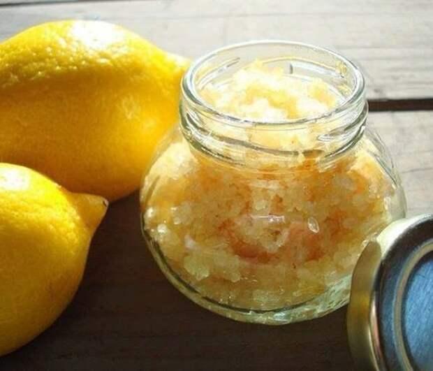 Лимонный скраб лимон, польза