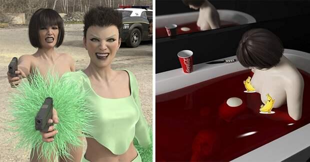 Виртуальная нереальность в эпатажных 3D-картинах Ольги Федоровой