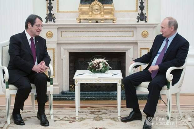 Владимир Путин обсудил с главой Кипра войну на Донбассе и сирийский конфликт
