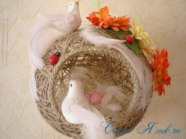 шары-гнездышки из шпагата