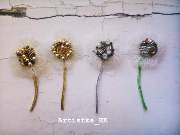 Броши-одуваны от Artistka_EK