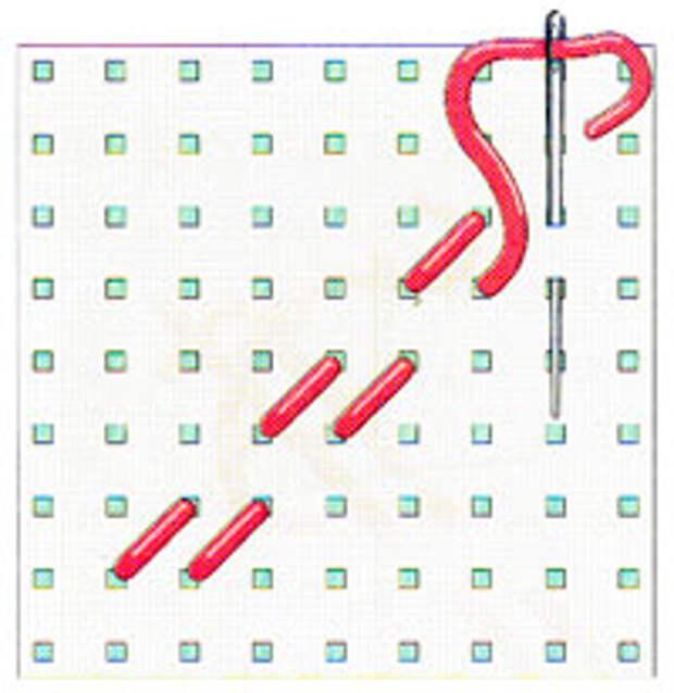 Вышивка крестиком по диагонали. Двойная диагональ слева направо (фото 6)