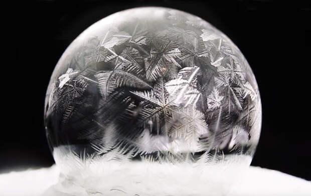 Морозные чудеса с мыльными пузырями