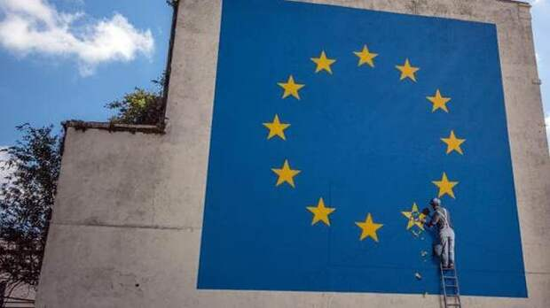 Бэнкси высказался об уничтожении его граффити про Brexit