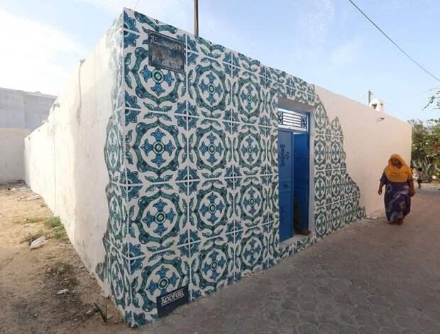 150 уличных художников из 30 стран, превратили старую деревушку Эр-Рияд в Тунисе в настоящую галерею под открытым небом (18)