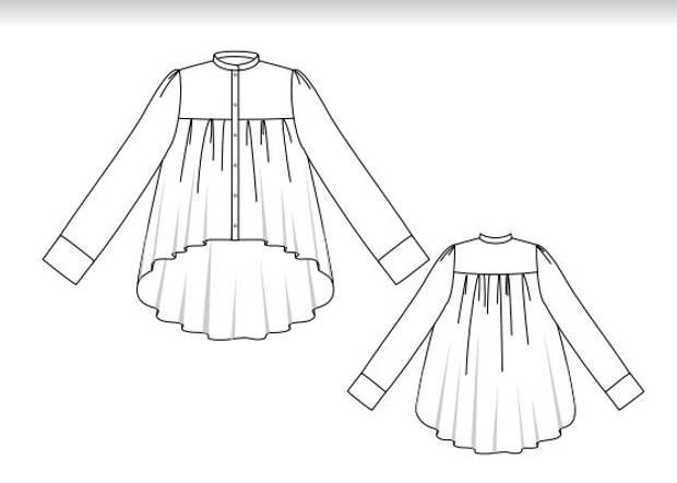 Выкройка блузки-блинчика