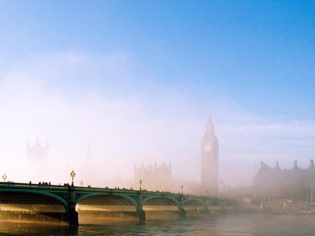 Вестминстерский мост и Парламент в утреннем тумане, Лондон