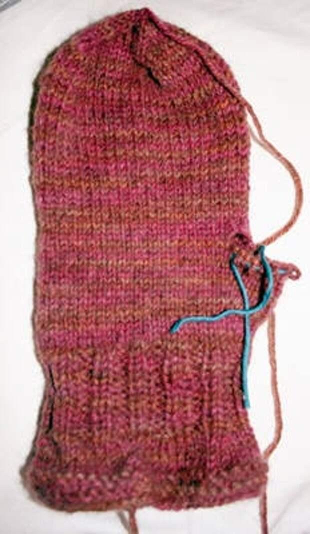 пошаговое фото вязания большого пальца клином