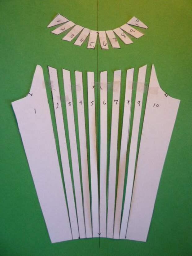 Рукав с горизонтальными рельефами (Diy)