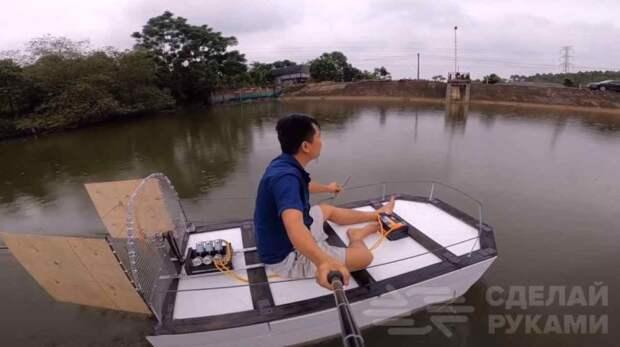Делаем своими руками: лодка из пенопласта с пропеллером