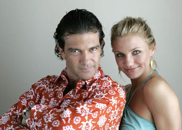 Камерон Диаз (Cameron Diaz) и Антонио Бандерас (Antonio Banderas) в фотосессии для фильма «Шрек 2» (Shrek 2) (2005), фото 6