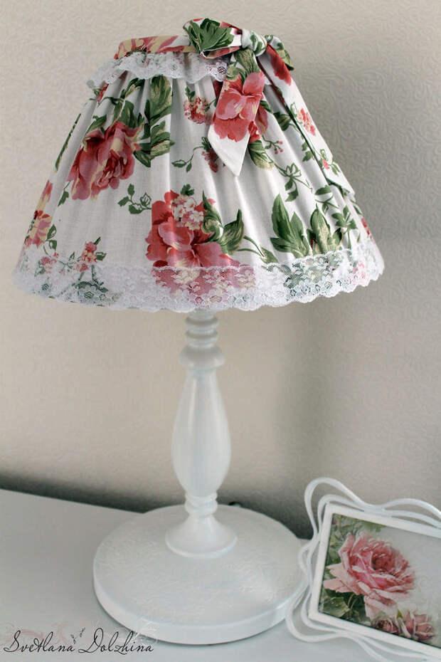 Как задекорировать настольную лампу: мастер-класс